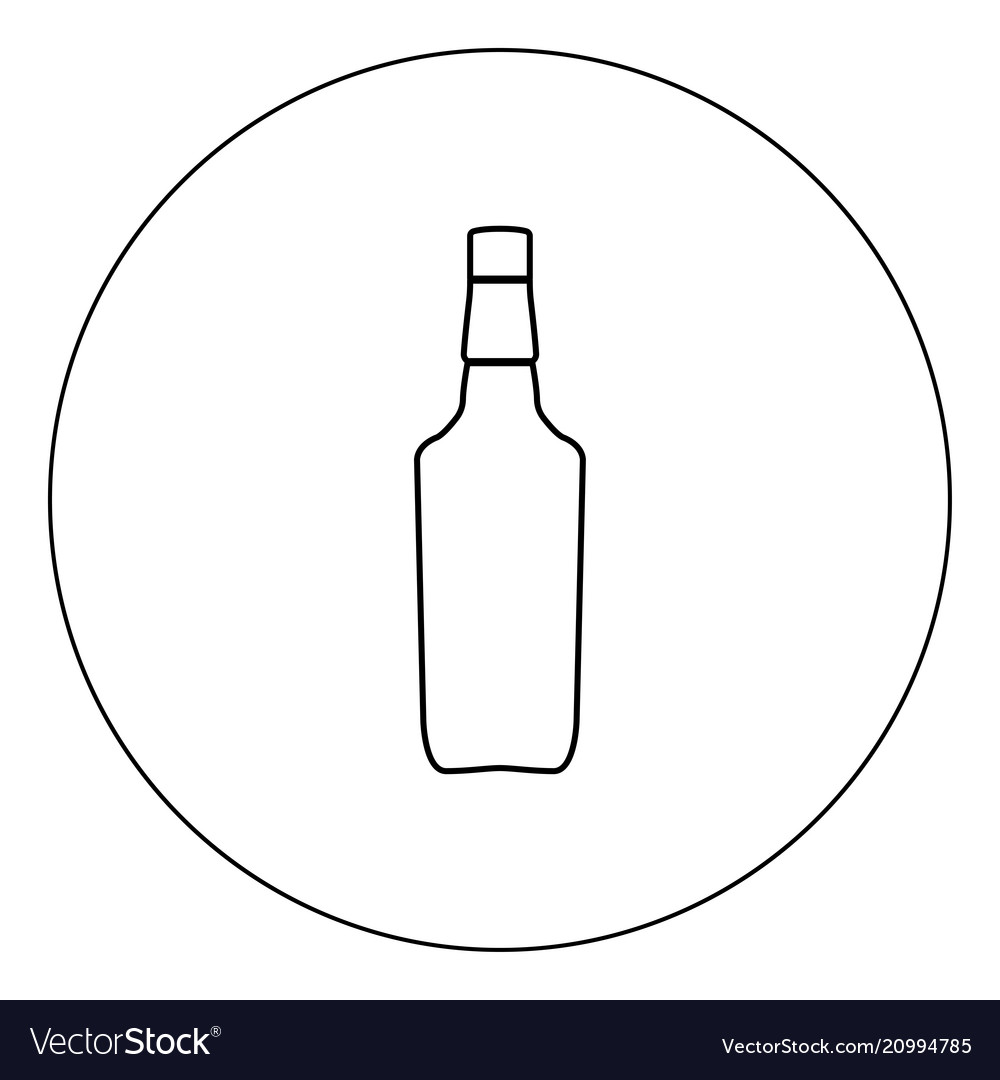 Whisky icon black color in circle isolated