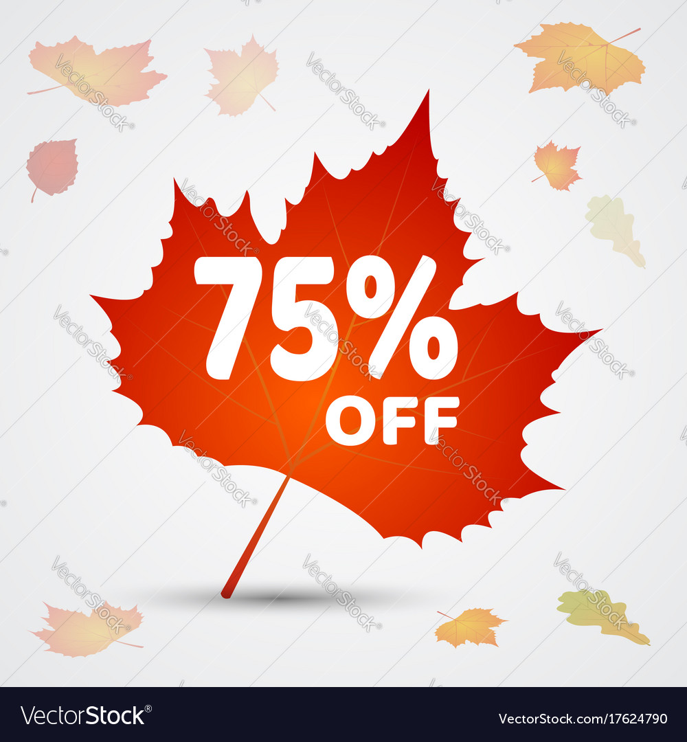 Autumn sale background layout decorate with leaves
