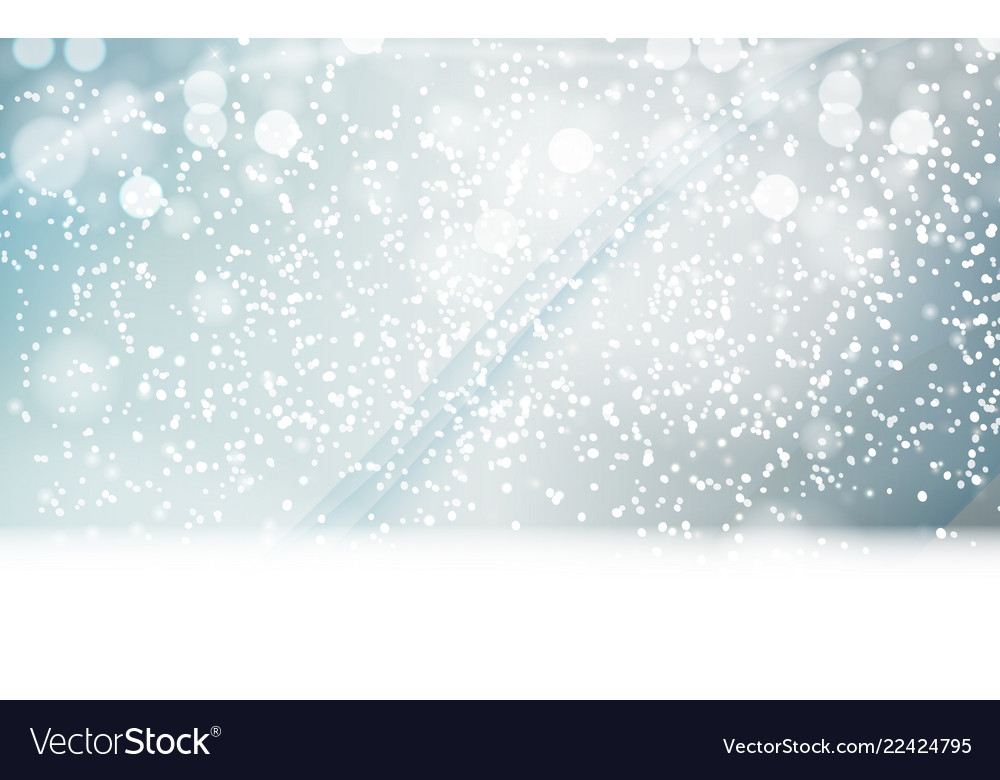 Abstrat winter snow blue background