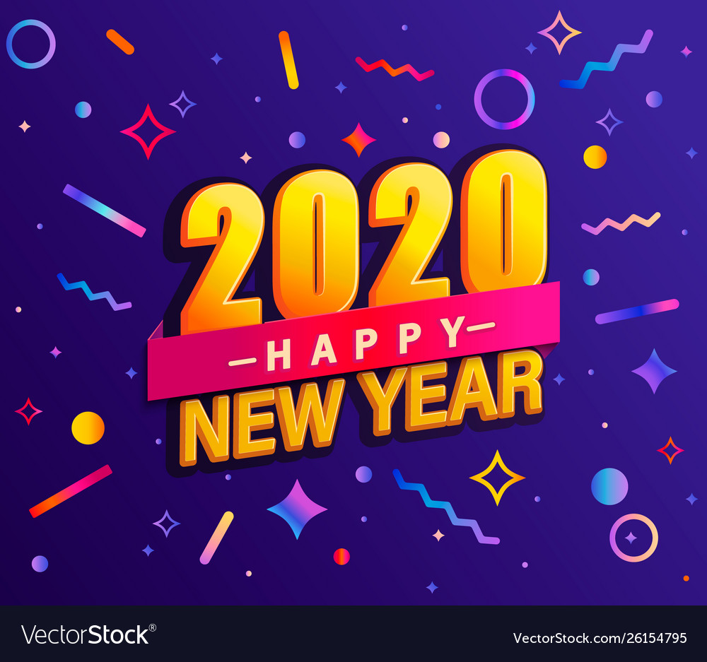 Banner for 2020 new year