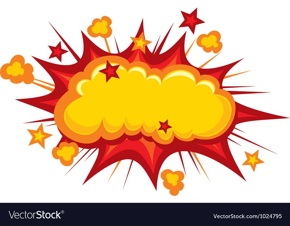 cartoon boom royalty free vector image vectorstock