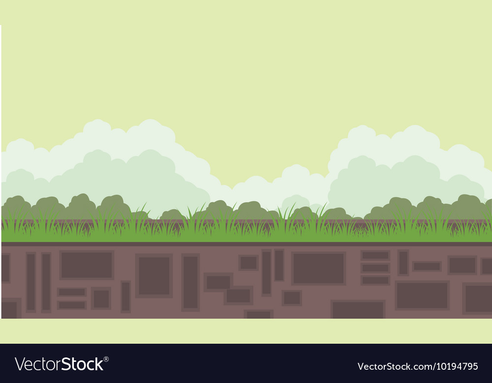 Flat backgrounds game scenery vector image