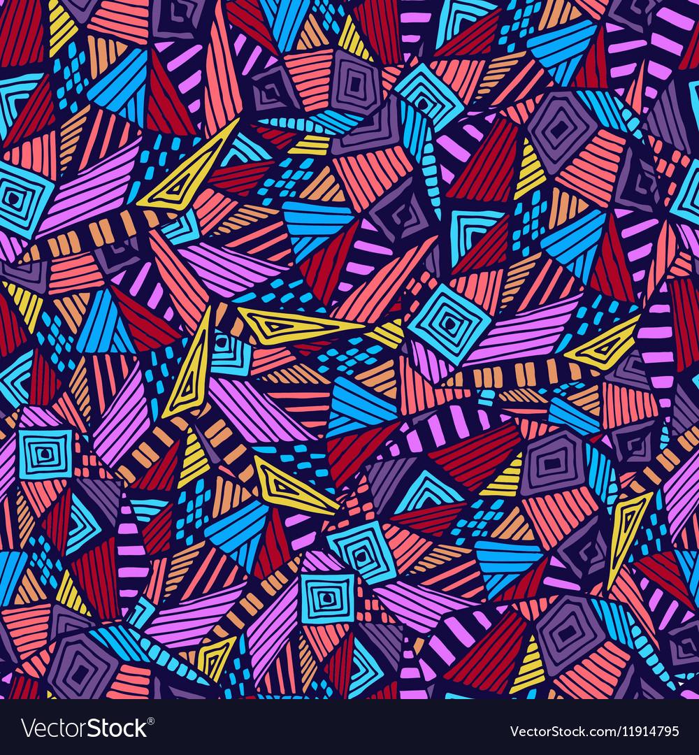 Geometric ethnic pattern vector image