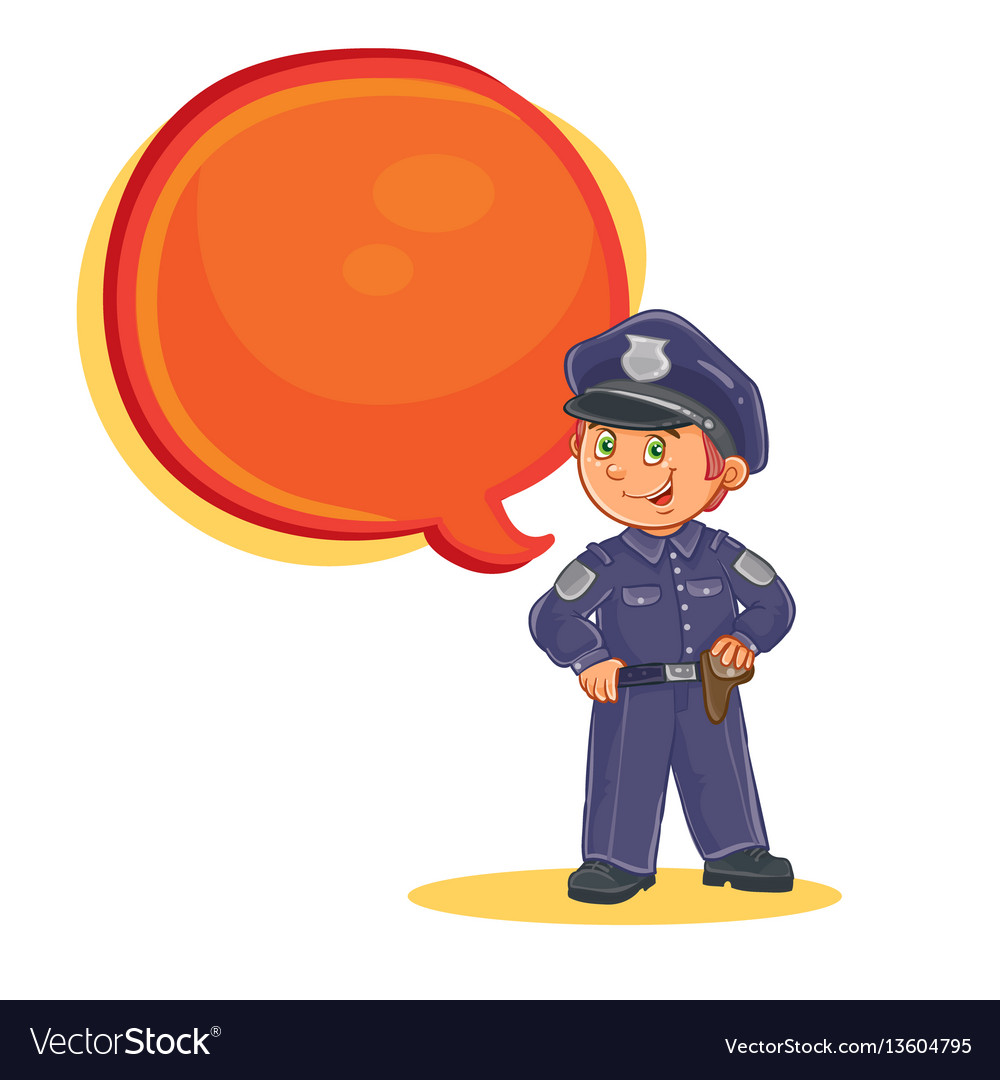 Icon of small child police man