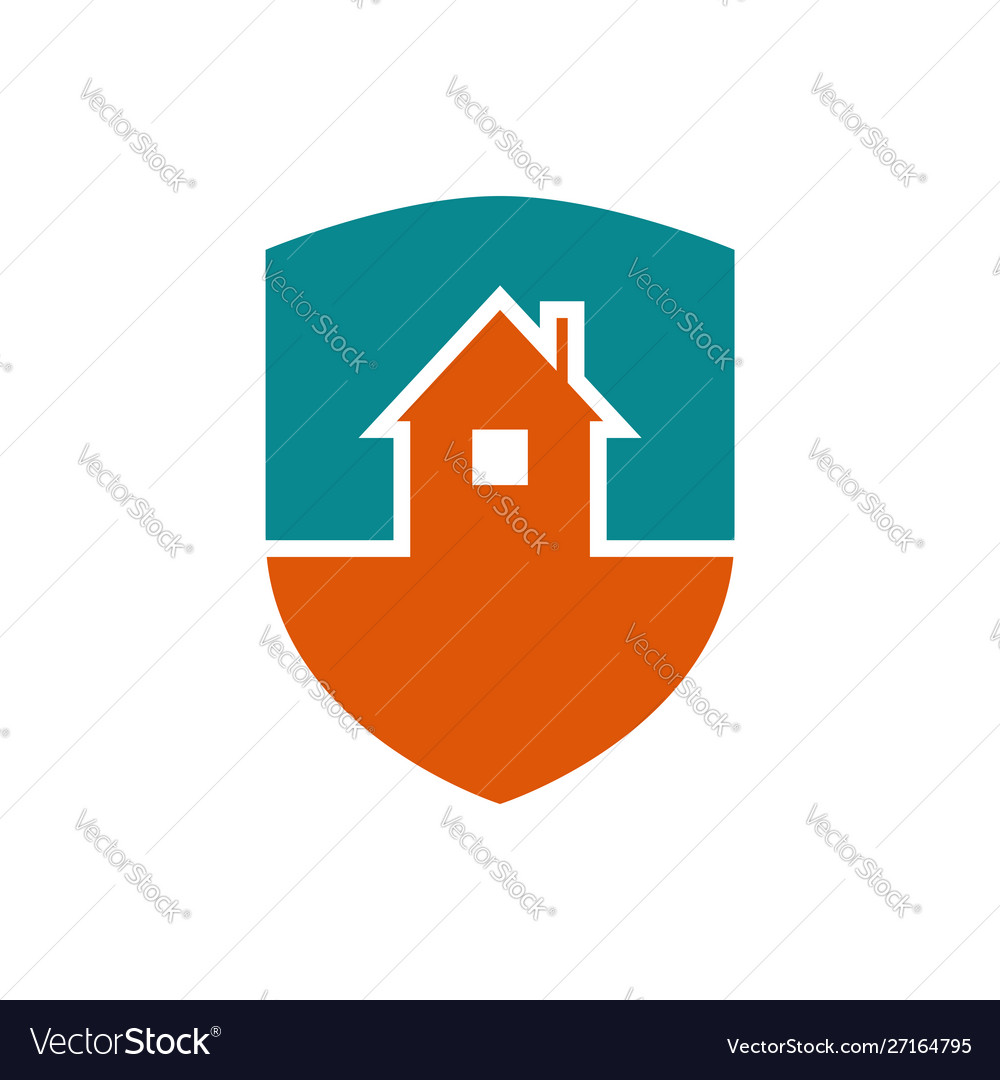 Protection house symbol security house sign
