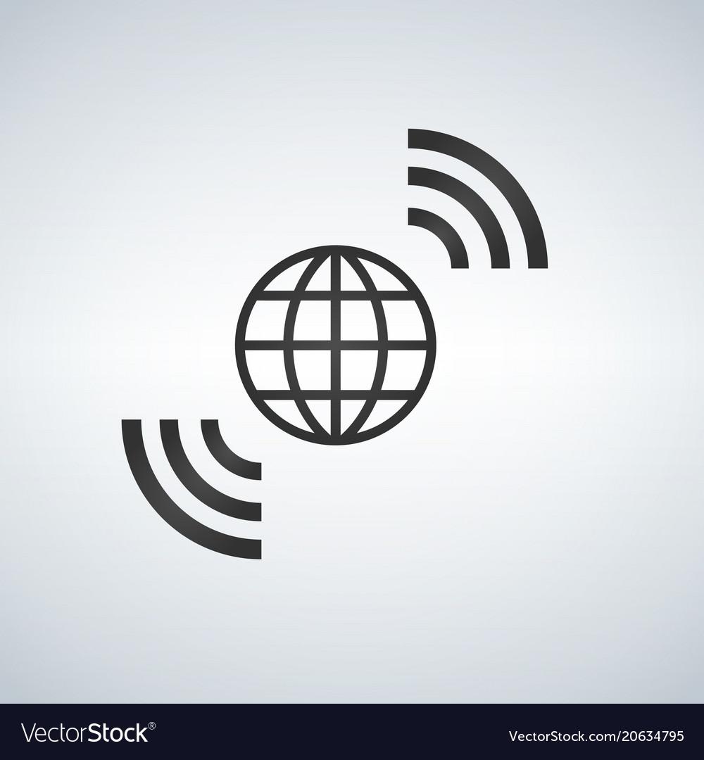 Wireless world wifi earth broadband symbol of