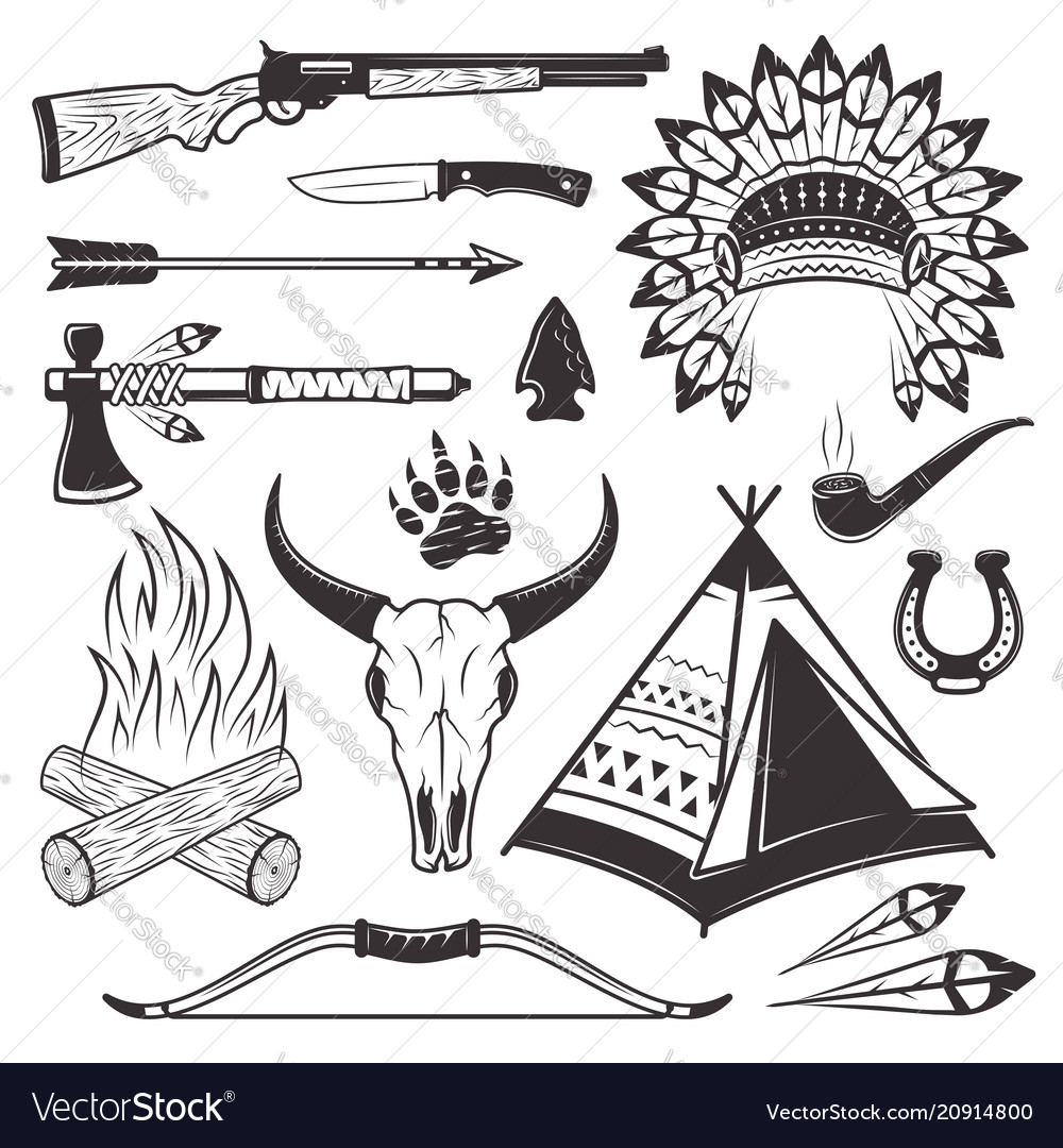 American indian hunter attributes and weapons