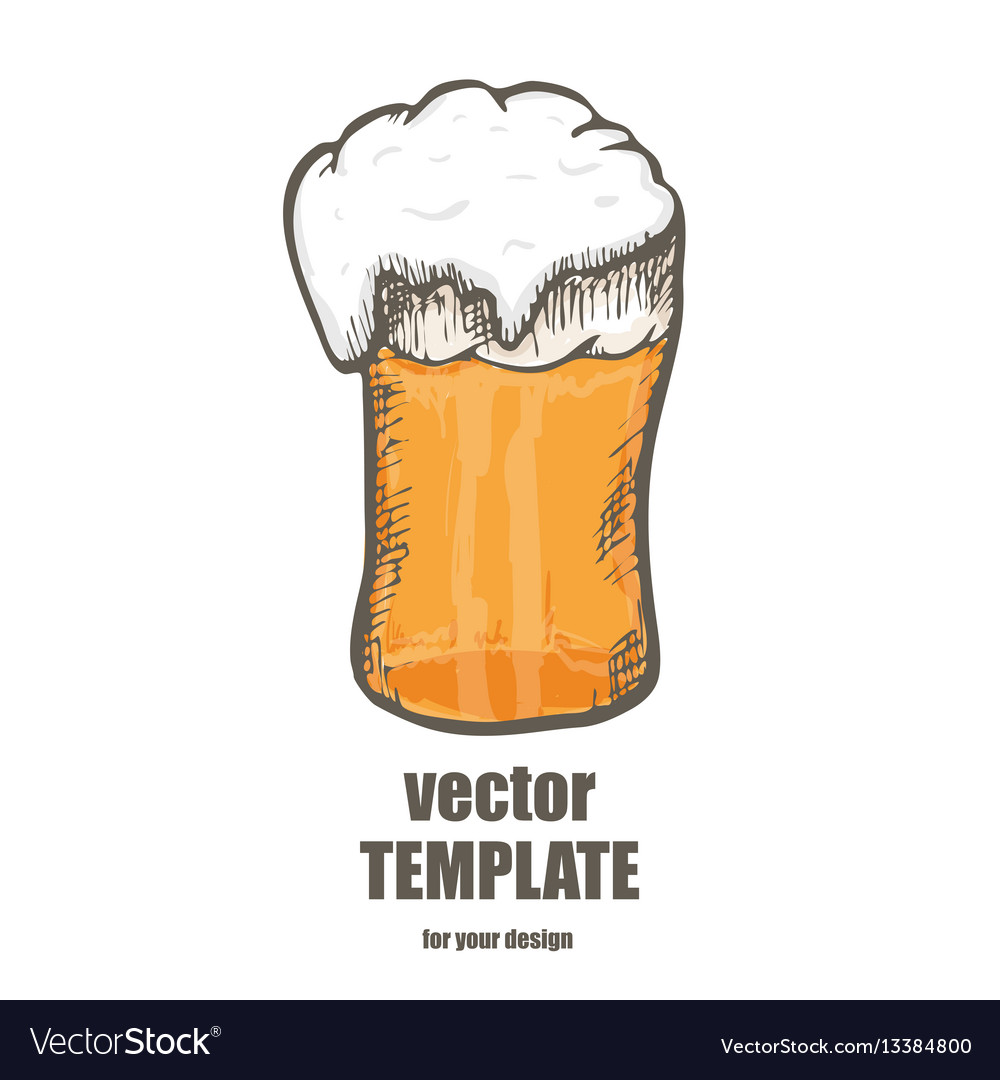 Beer glass with beer isolated on