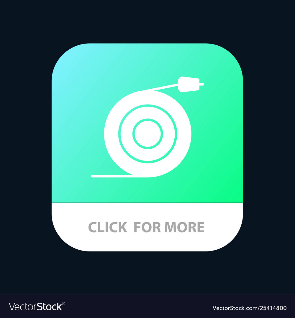 Curved flow pipe water mobile app button android