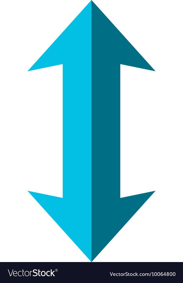 Double arrow icon Direction design Royalty Free Vector Image