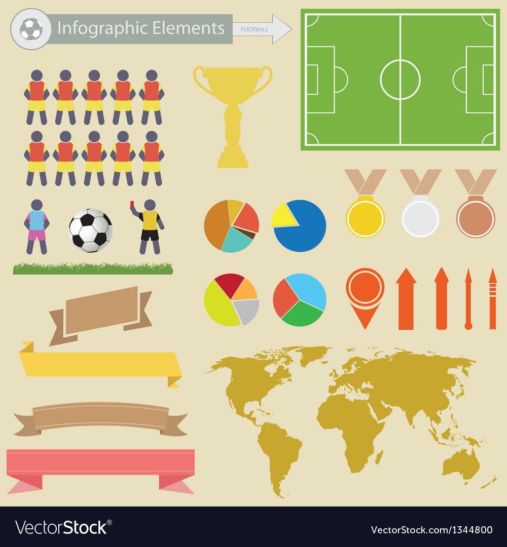 Football infographics vector image