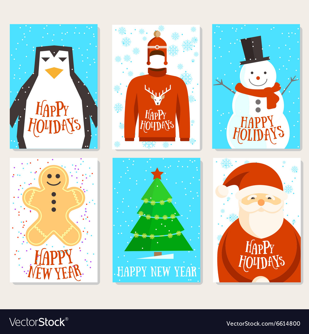 Happy holidays cards template