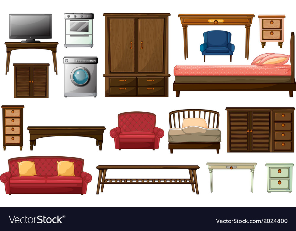 House furnitures and appliances