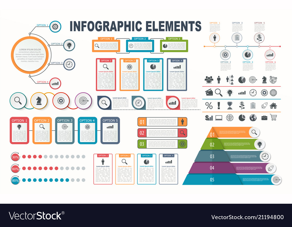 Infographic elements diagram workflow layout