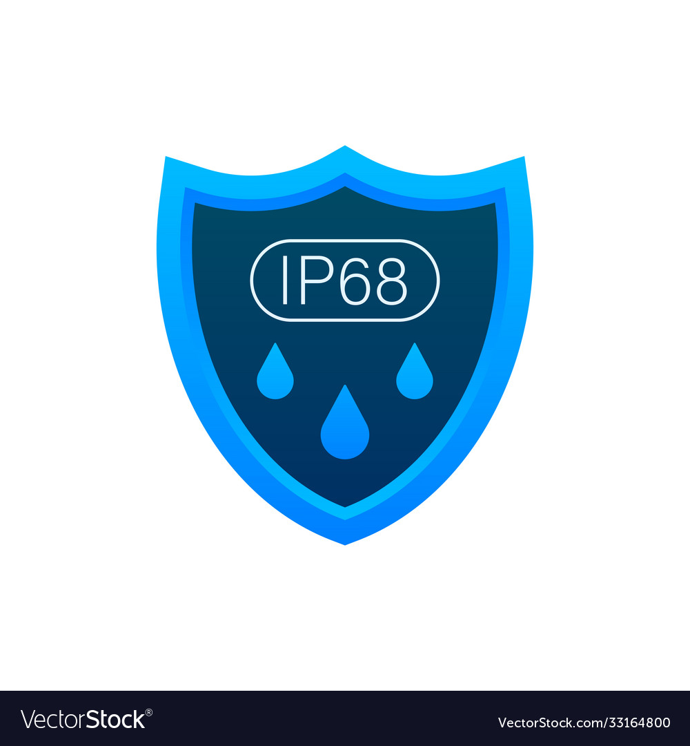 Ip68 protection standard icon safety badge