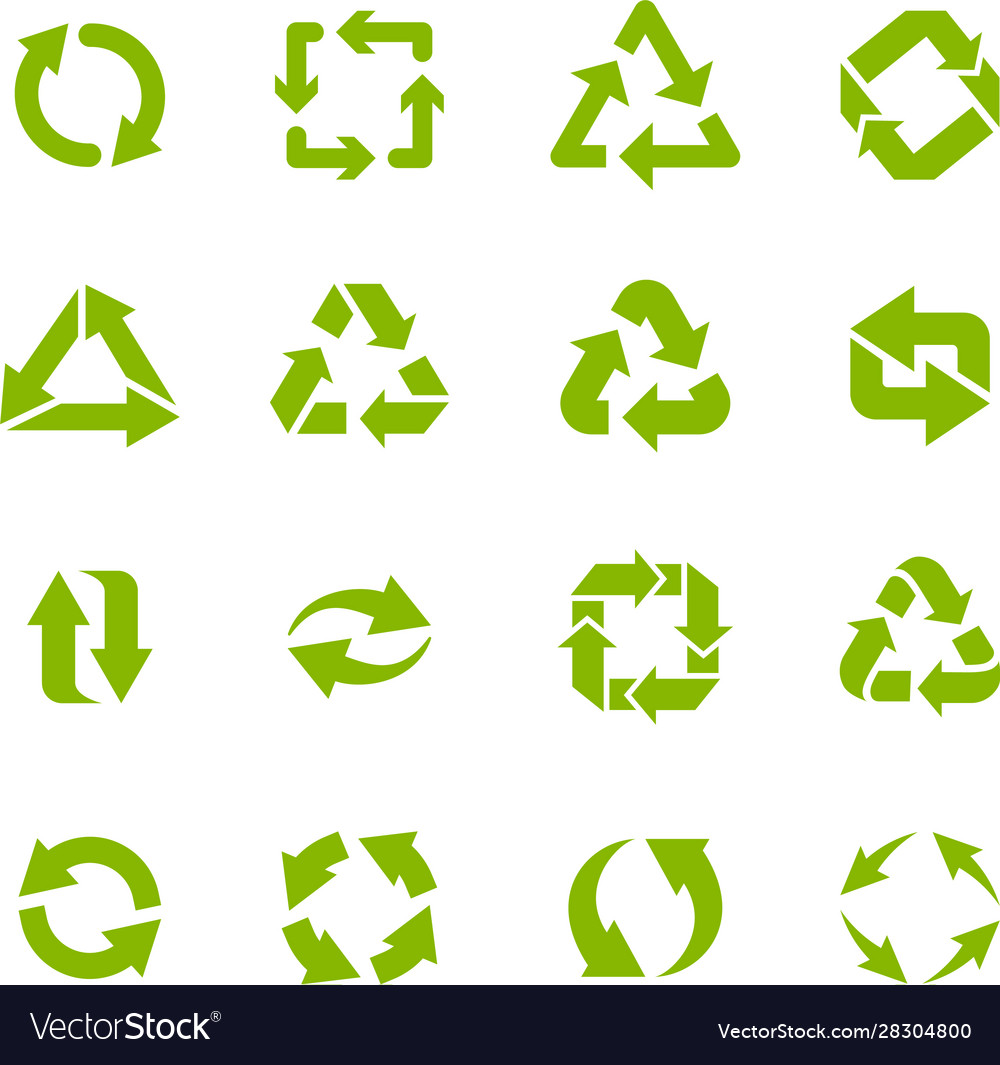 Recycle arrows garbage circular recycling icons