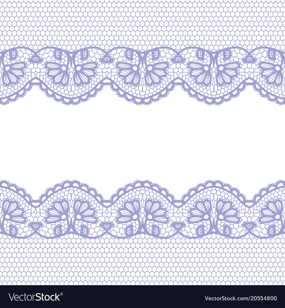 Seamless lace border invitation card royalty free vector seamless lace border invitation card vector image stopboris Images