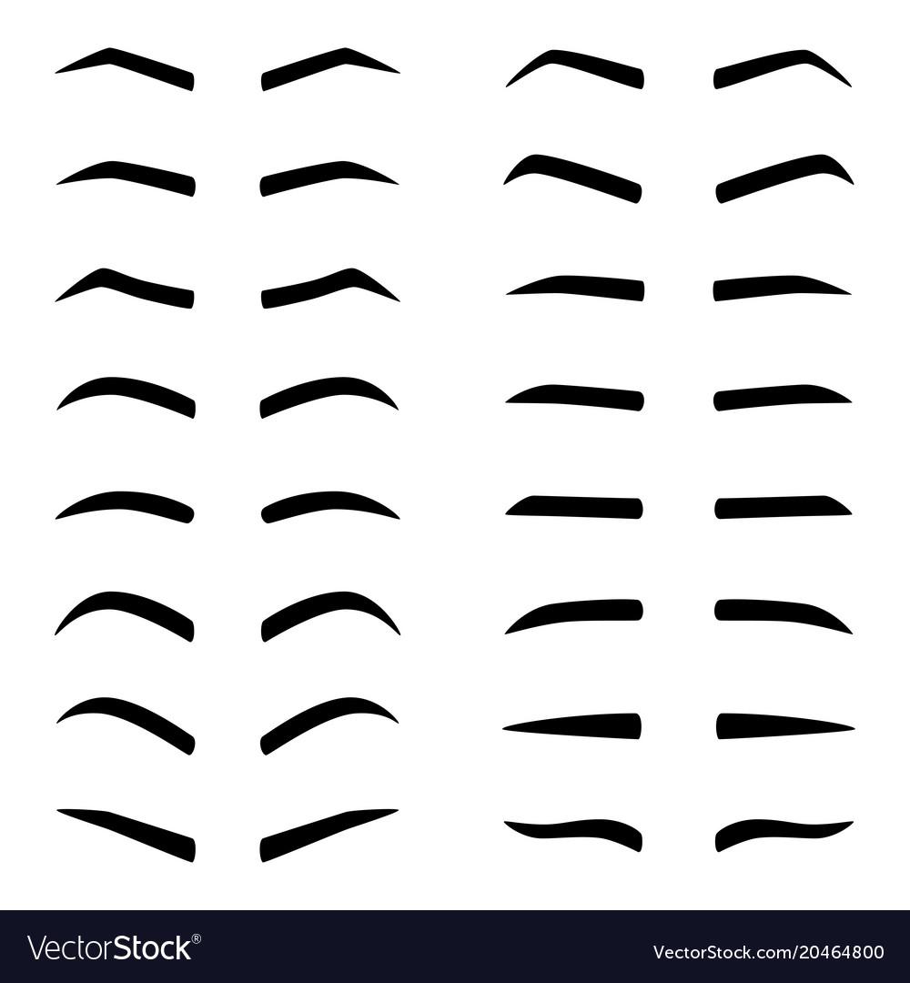 Set of designes of eyebrows
