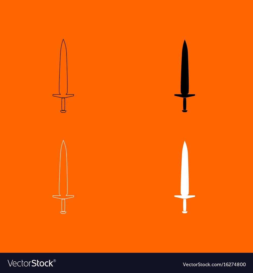 Simple sword icon vector image
