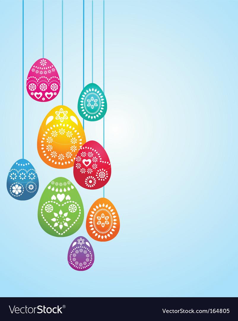 Easter egg card vector image