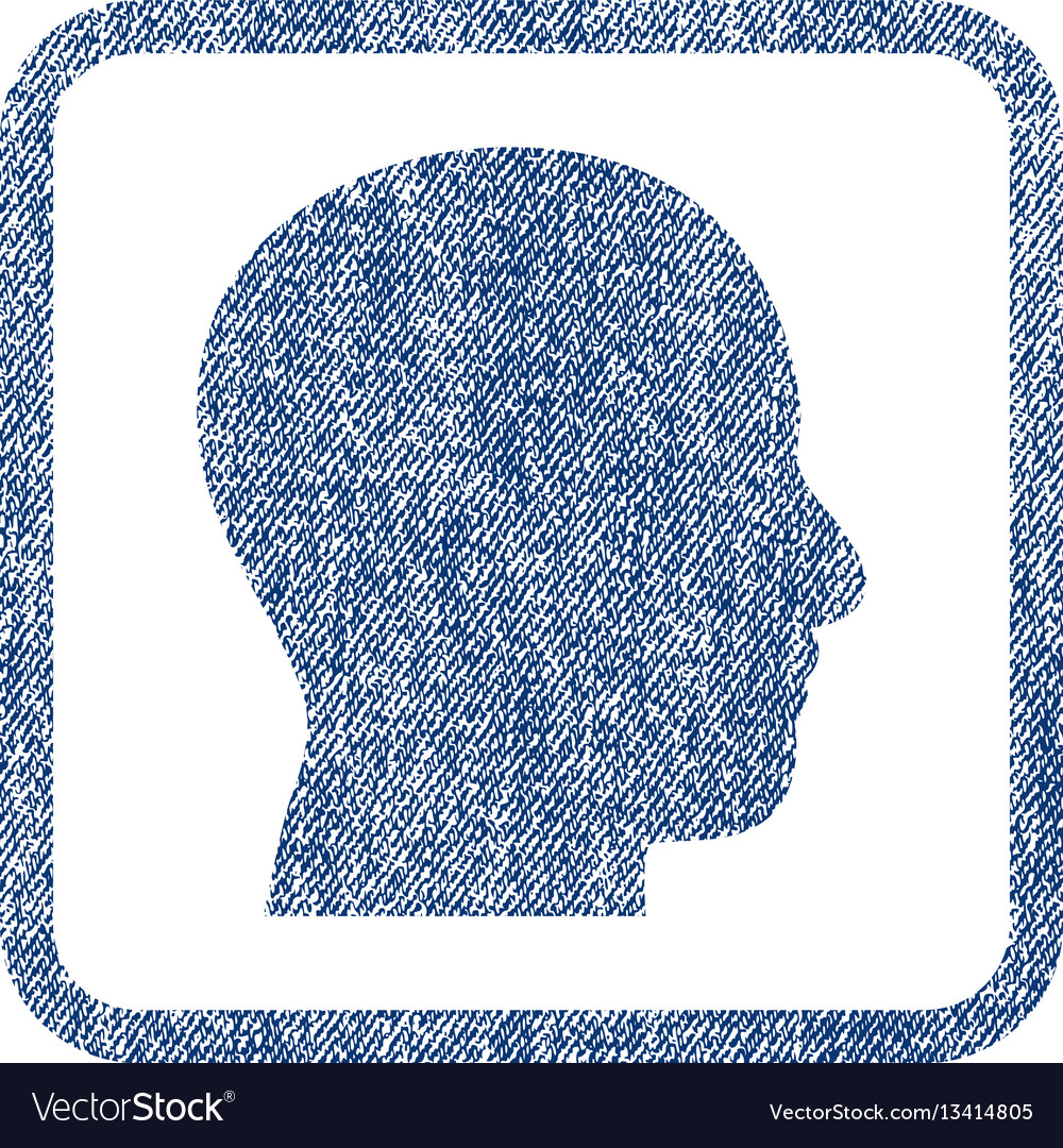 Head profile fabric textured icon