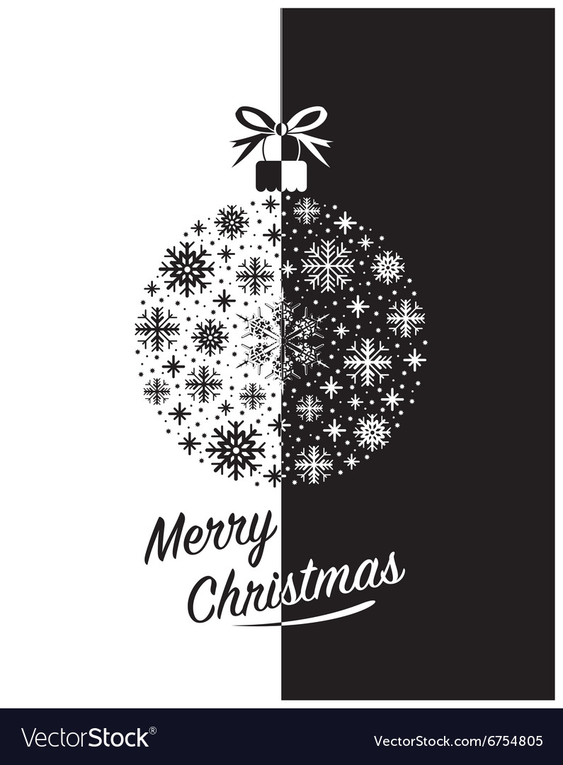 Merry christmas black
