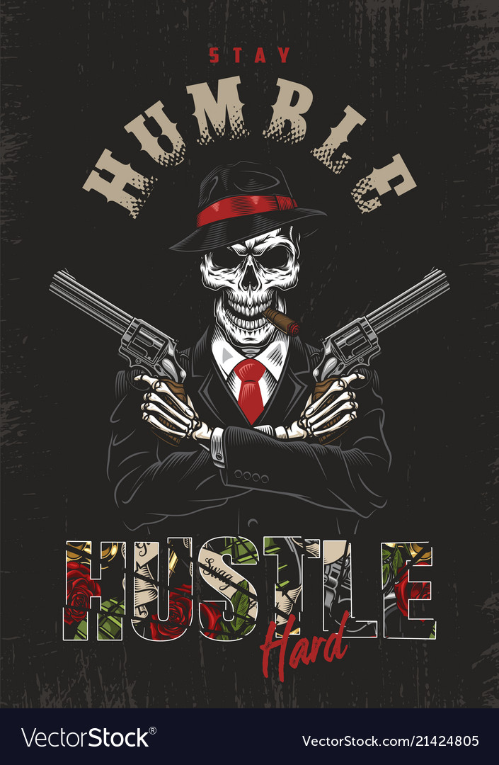 Skull Mafia And Guns Vector Images 60