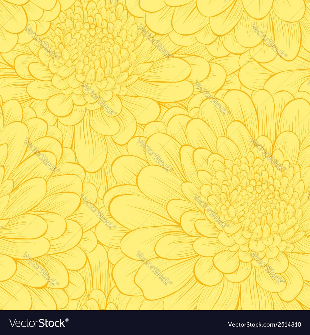 Beautiful seamless pattern with hand-drawn flowers