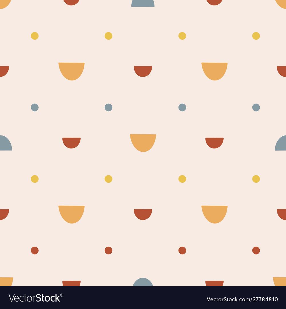 Bohemianl hand drawn seamless pattern