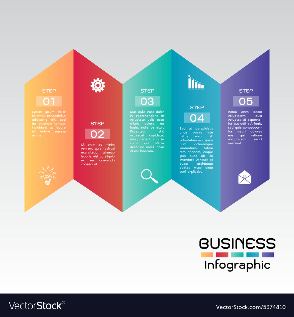 Business Infographic Step Presentation