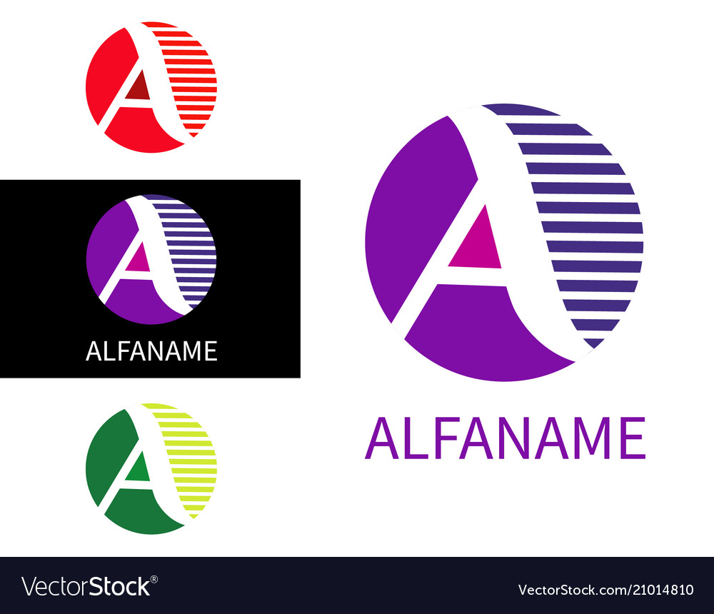 Letter a logo for business