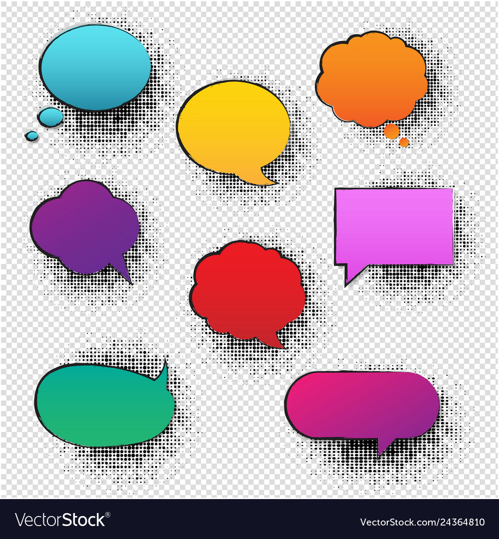 Retro speech bubble transparent background