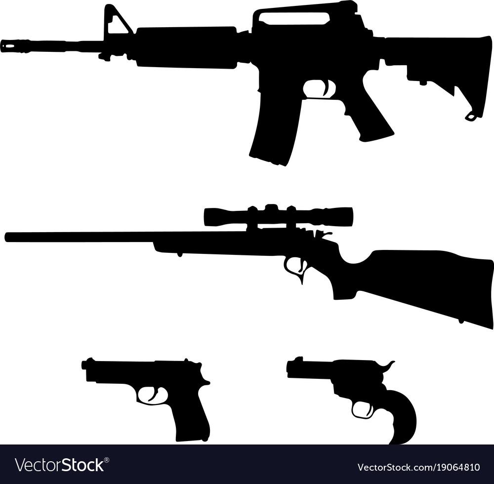 Semi-automatic rifle hunting rifle and pistols