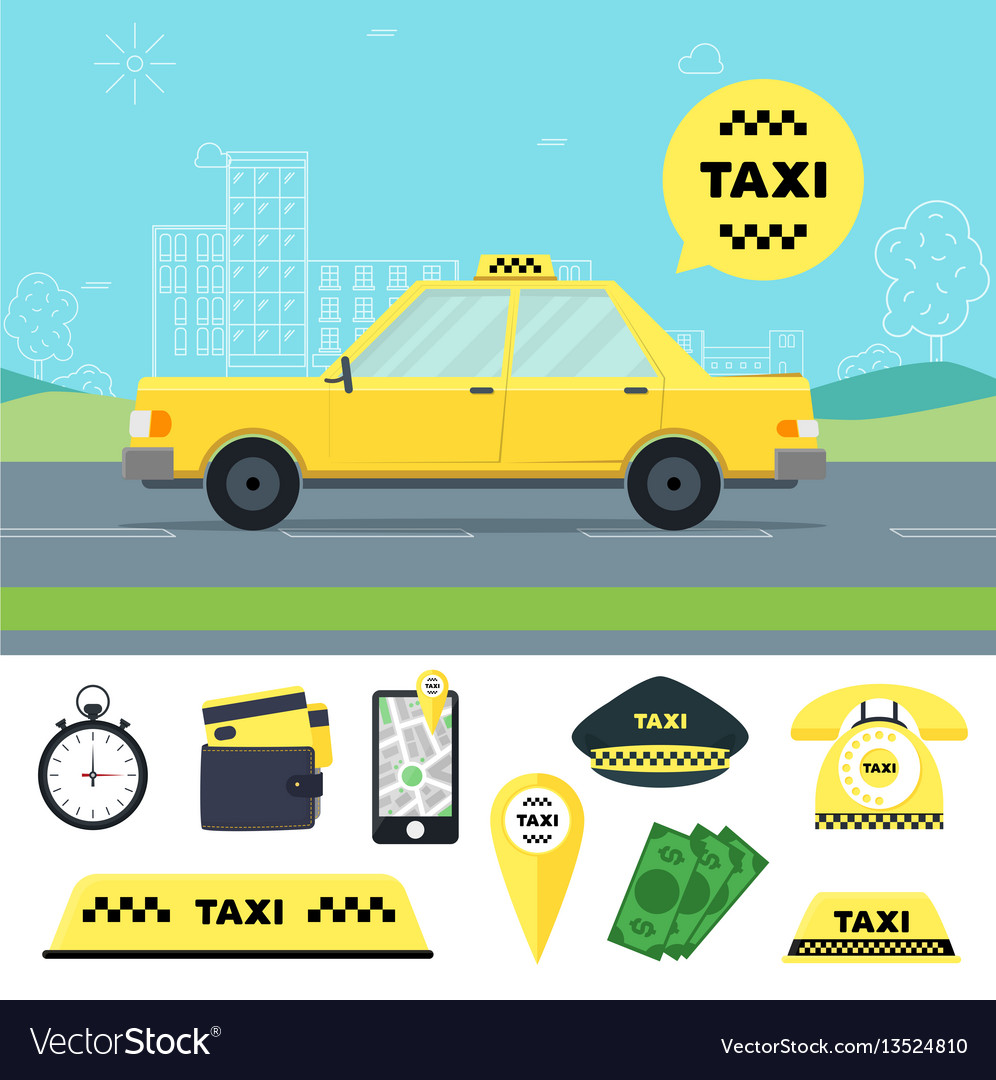 Taxi transportation service and tools set