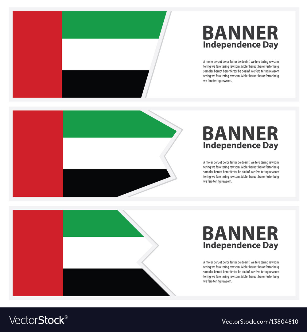 United arab emirates flag banners collection