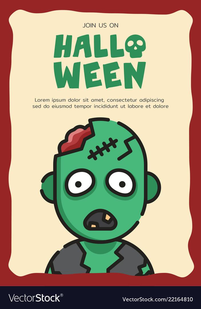 Zombie Invitation Card Template