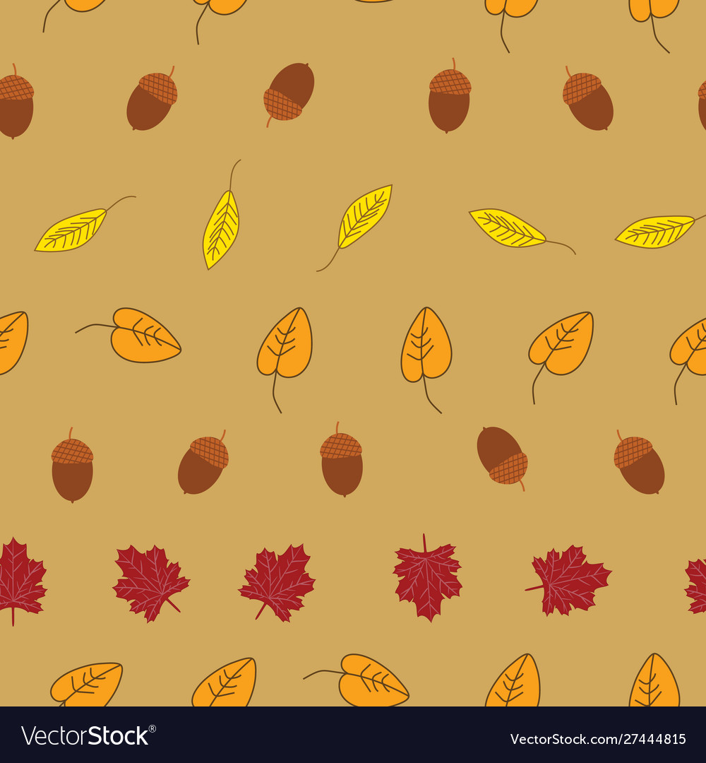 Beautiful autumn inspired seamless pattern