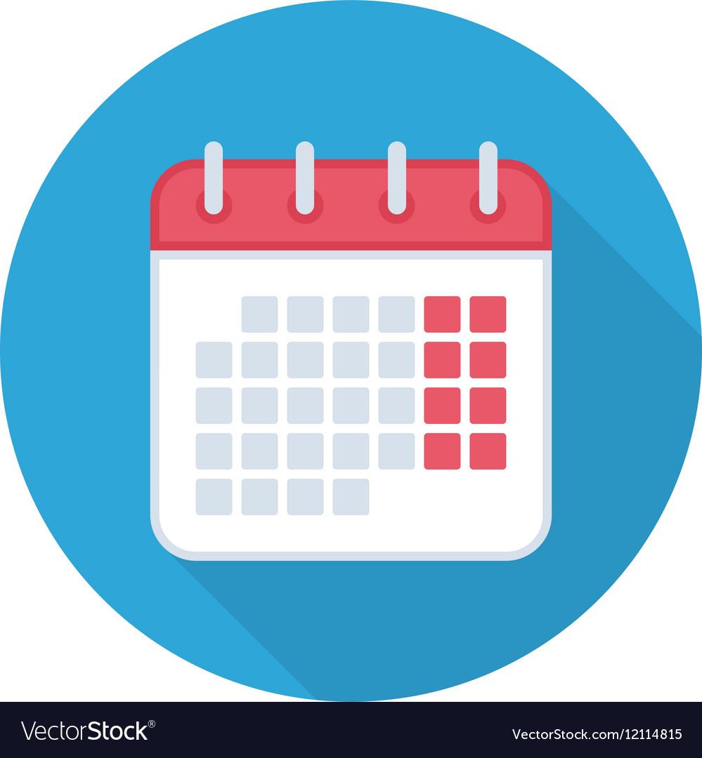 Calendar isolated icon