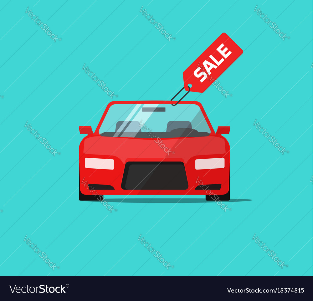 Car or auto sale flat cartoon