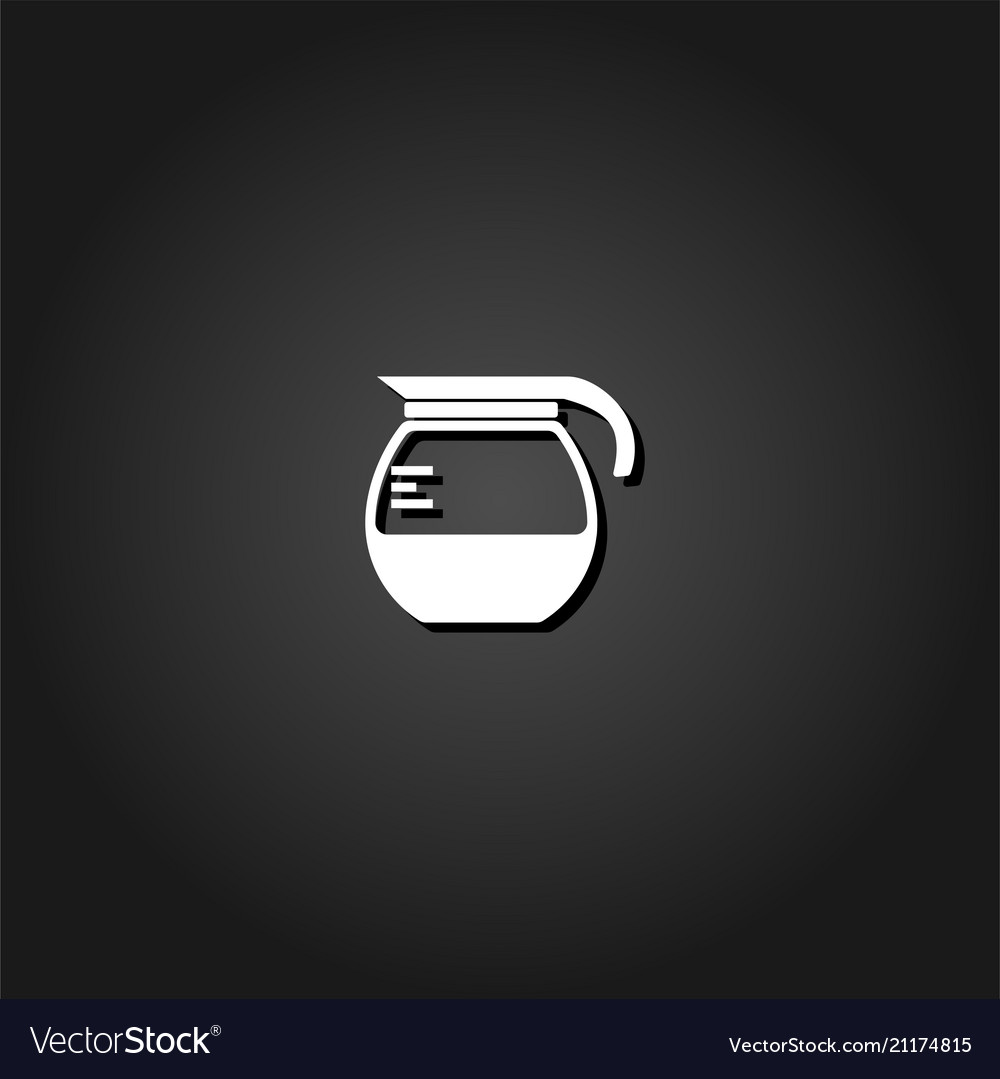 Coffee maker icon flat
