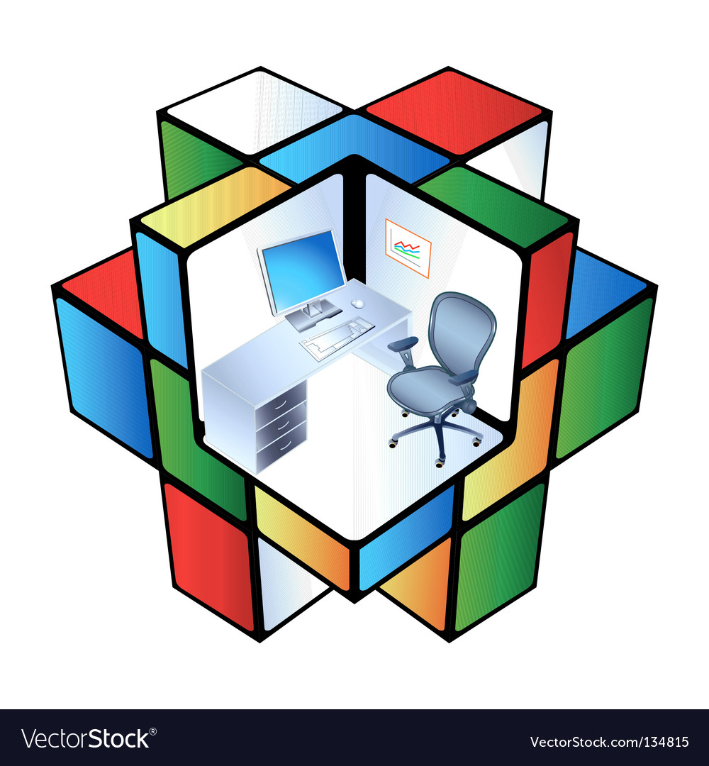 Rubik office cubicle