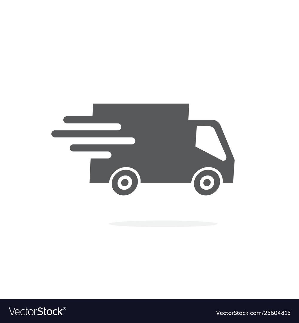 Truck icon on white background