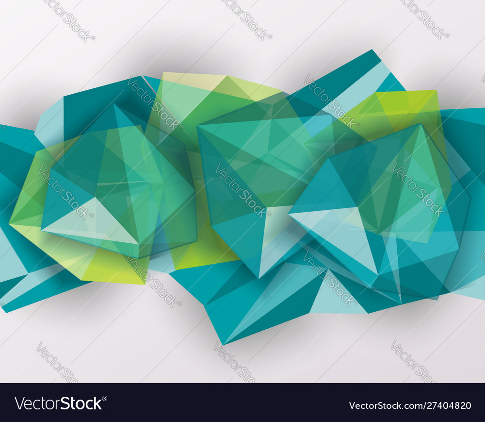 Abstract geometric background with poygonal 3d