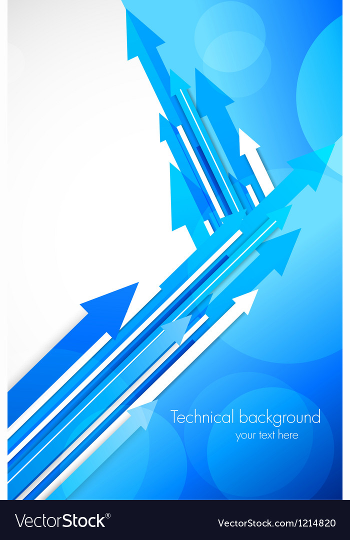 Blue background with arrows vector image