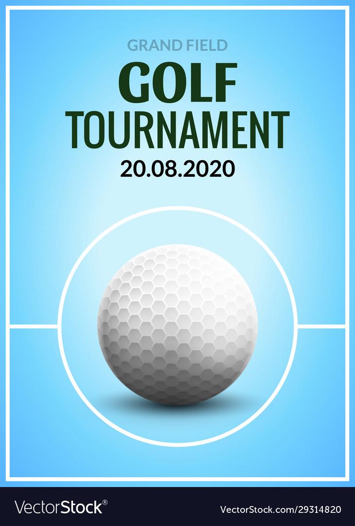 Golf tournament poster template flyer ball