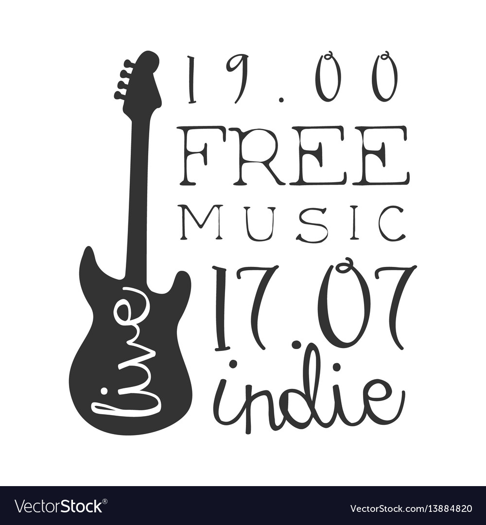Indie free live music concert black and white