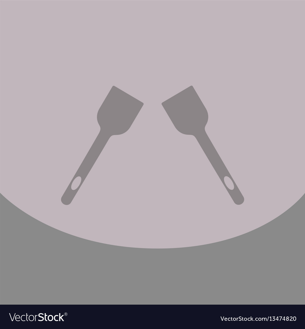 Kitchen spatula icon for cook vector image