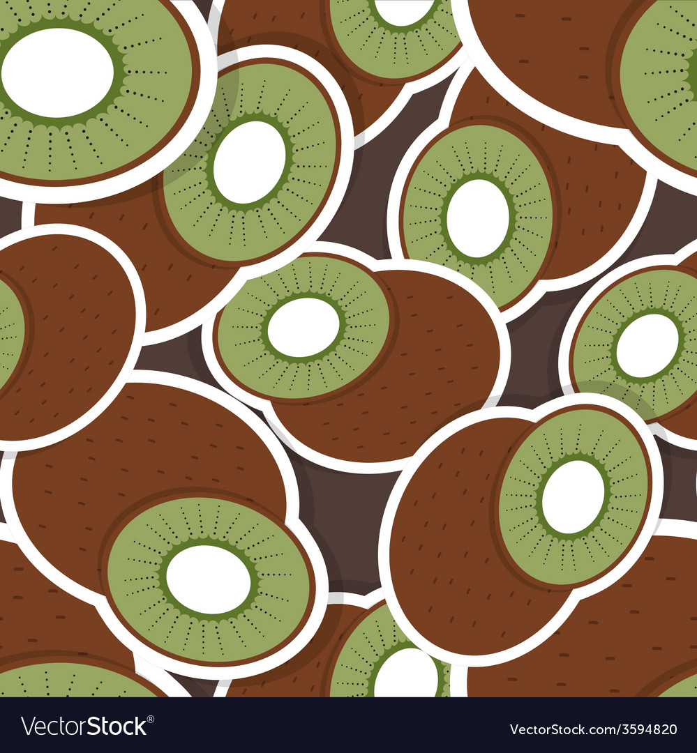 Kiwi pattern Seamless texture with ripe Kiwi