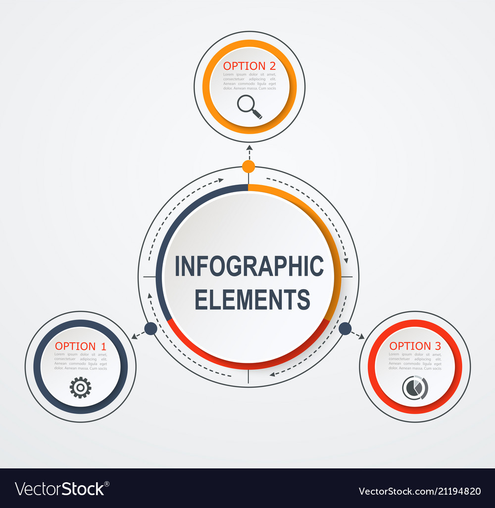 Presentation business infographic template with 3