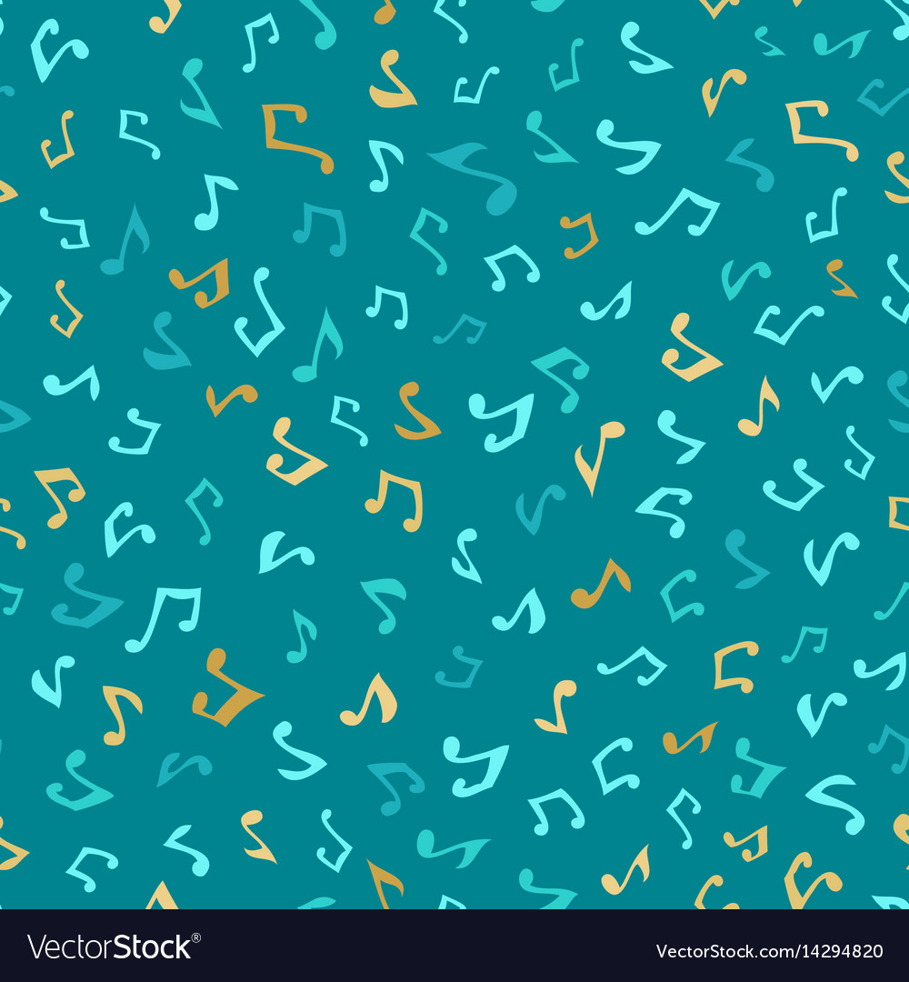 Seamless blue music pattern